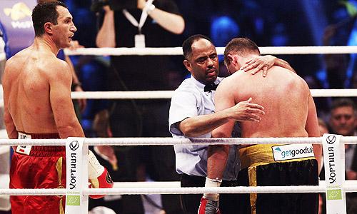 Klitschko stops Pianeta in six rounds to retain titles