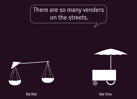 Differences between Hanoi and Saigon in pictures`