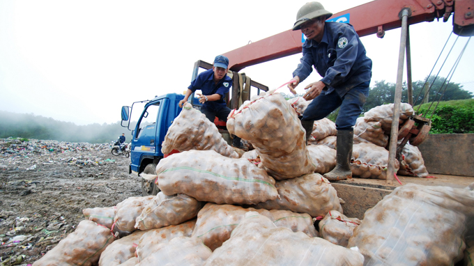 Da Lat cracks down on disguised Chinese produce