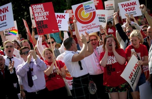 British lawmakers set to pass gay marriage bill