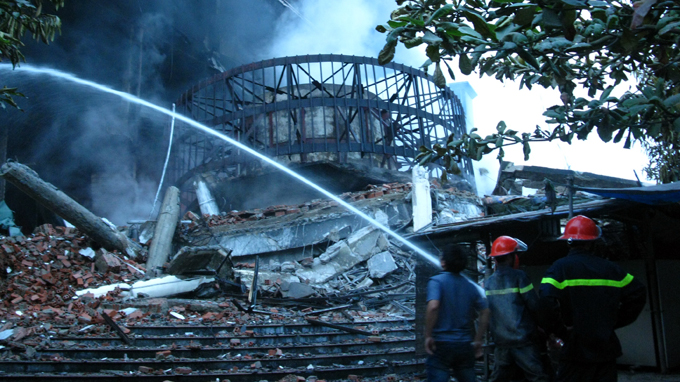Trade center fire burns goods worth $23.6 mln