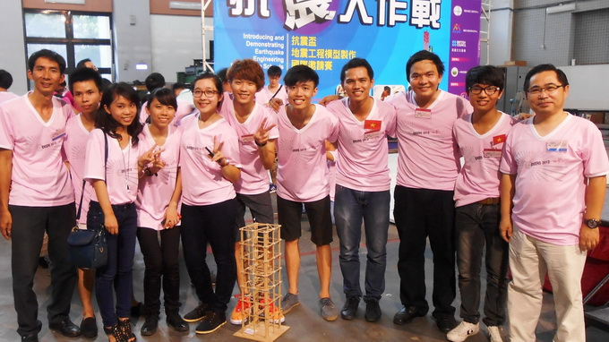 Vietnam wins third prize at Taiwan earthquake engineering contest