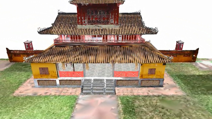 Hue royal palace re-created in 3D models