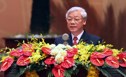 Party leader urges boosting ties of VN-Laos security forces