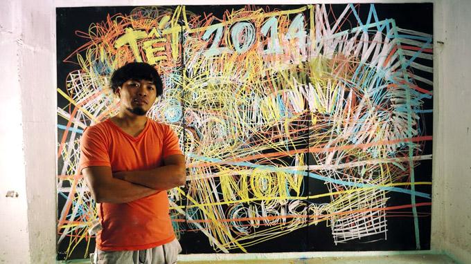 Non-cubism chalk painting exhibit running in HCMC