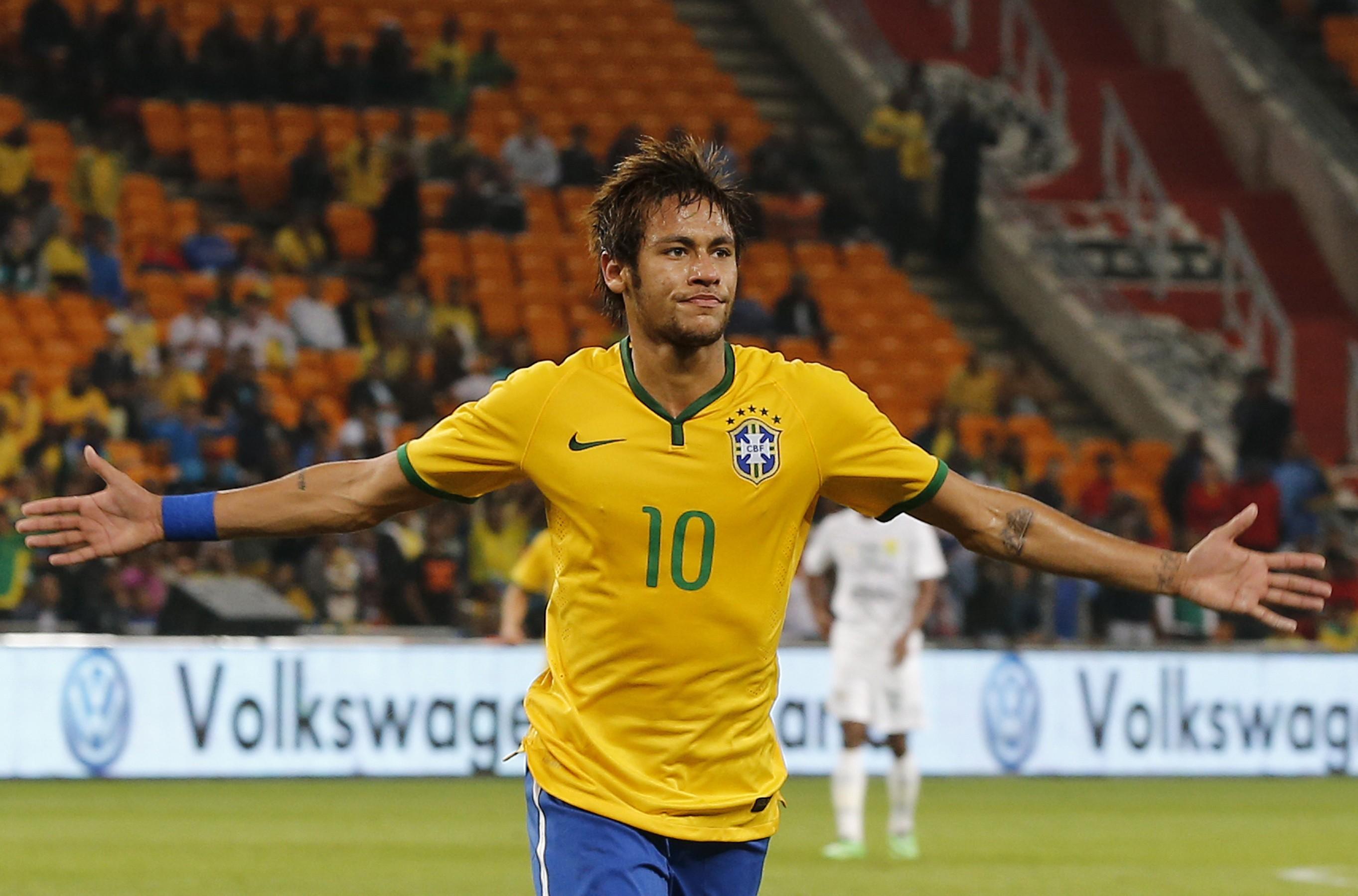 Brazil fired by Neymar hat-trick as Spain, France, Germany win