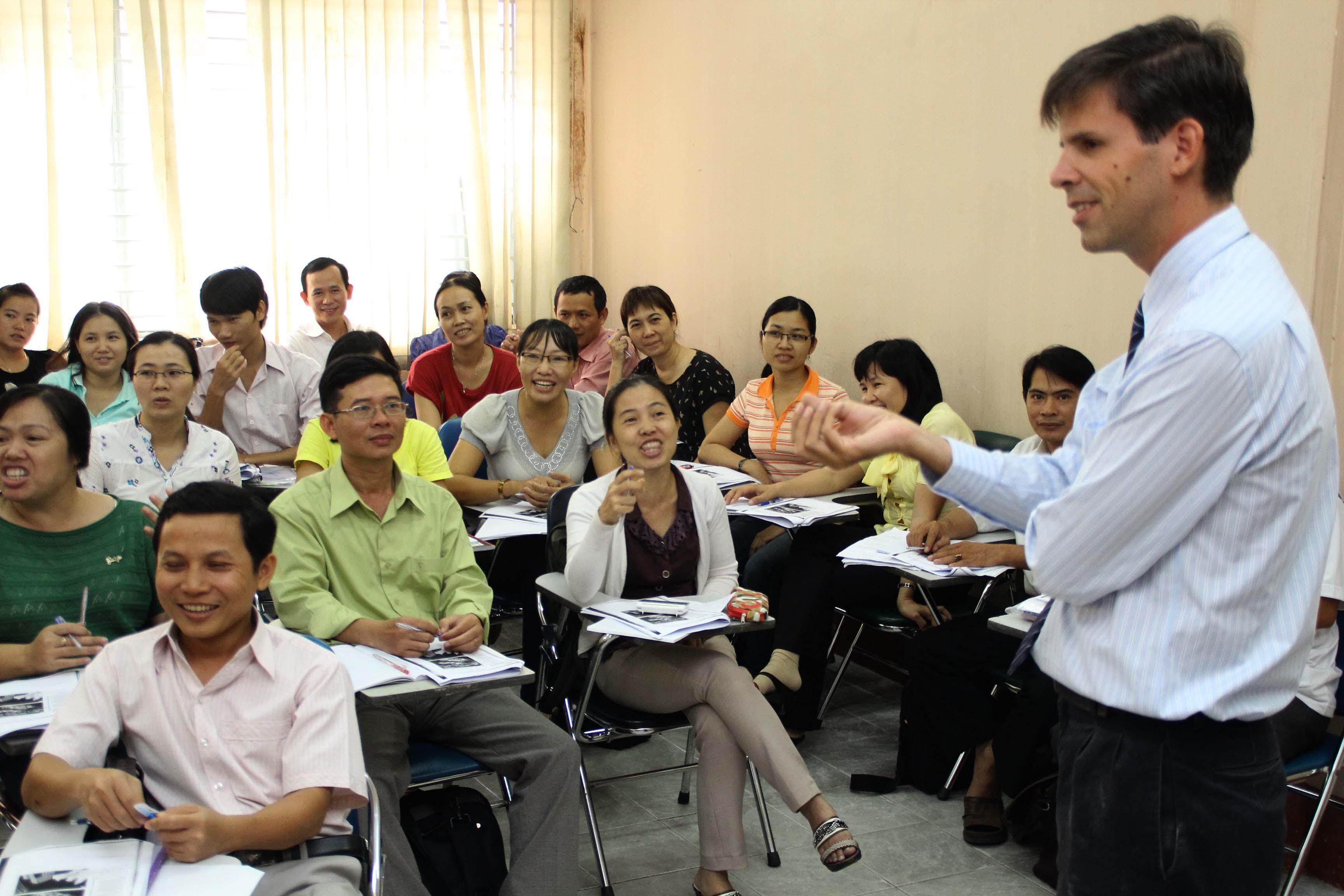 The English teachers in Vietnam