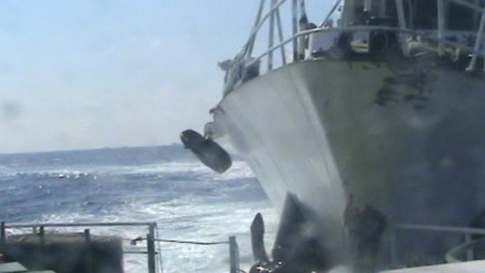 Chinese vessel rams, destroys railing of Vietnam Coast Guard ship