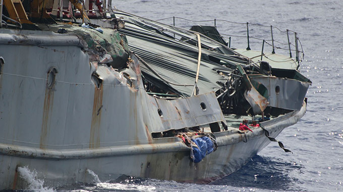 Chinese vessels hit Vietnam's ship twice, injuring 2 officers