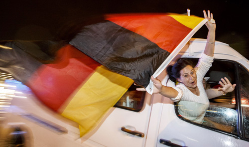 Brazil celebrates German victory as drubbing is forgiven