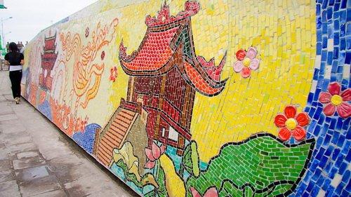 Guinness-recognized ceramic mural in Vietnam's capital to undergo repair