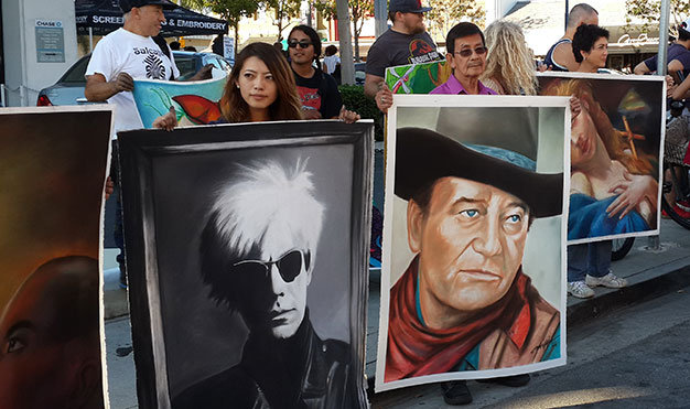 Expat Vietnamese wins prize at California chalk art contest