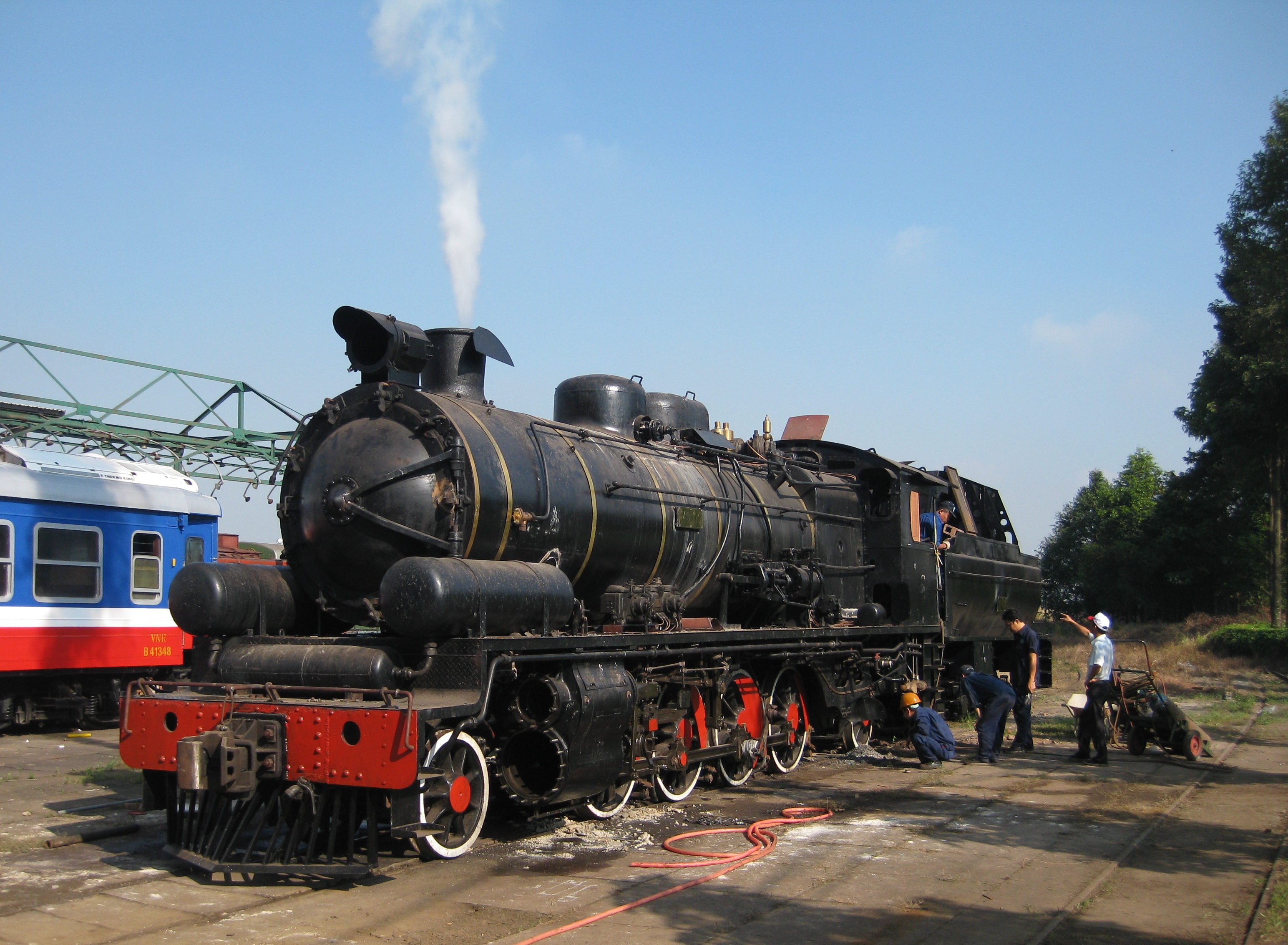Vietnam's first steam locomotive brought back to life