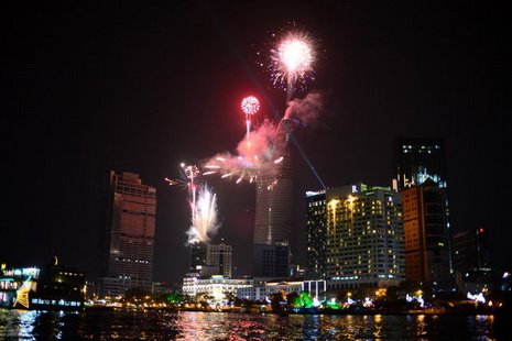 Ho Chi Minh City sparkles on New Year's Eve.