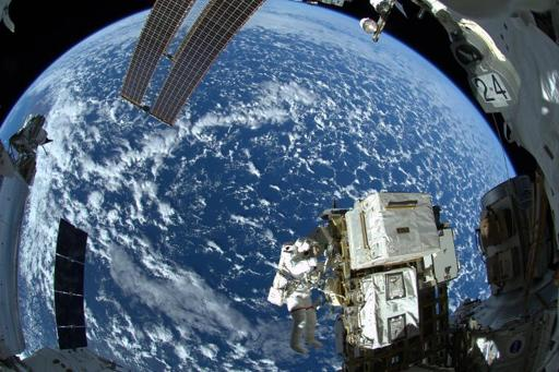 Astronauts take shelter after alarm at space station