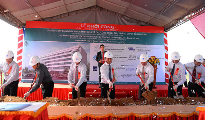 $1.3bn metro line project, 2nd in Ho Chi Minh City, breaks ground