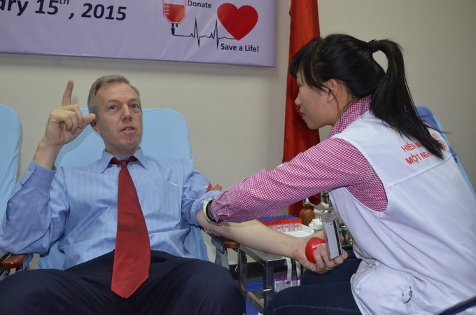 US Embassy hosts blood drive as Tet gift for Vietnam