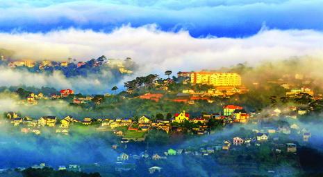 A view of Da Lat in autumn.