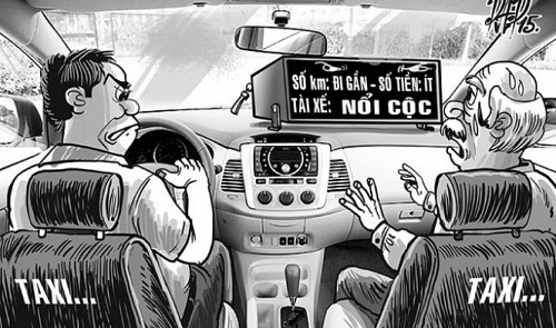 In Vietnam, the shorter the distance gets, the more belligerent cabbies become