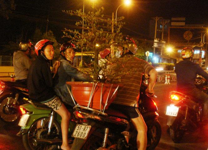 Saigon residents shop at night for Tet (photos)