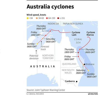 Homes destroyed as twin cyclones slam into northern Australia