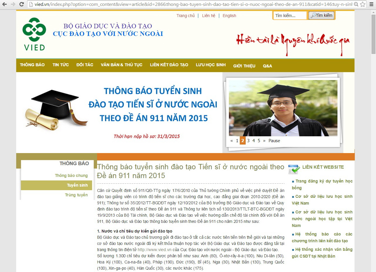 Vietnam to send 1,300 overseas for PhD training