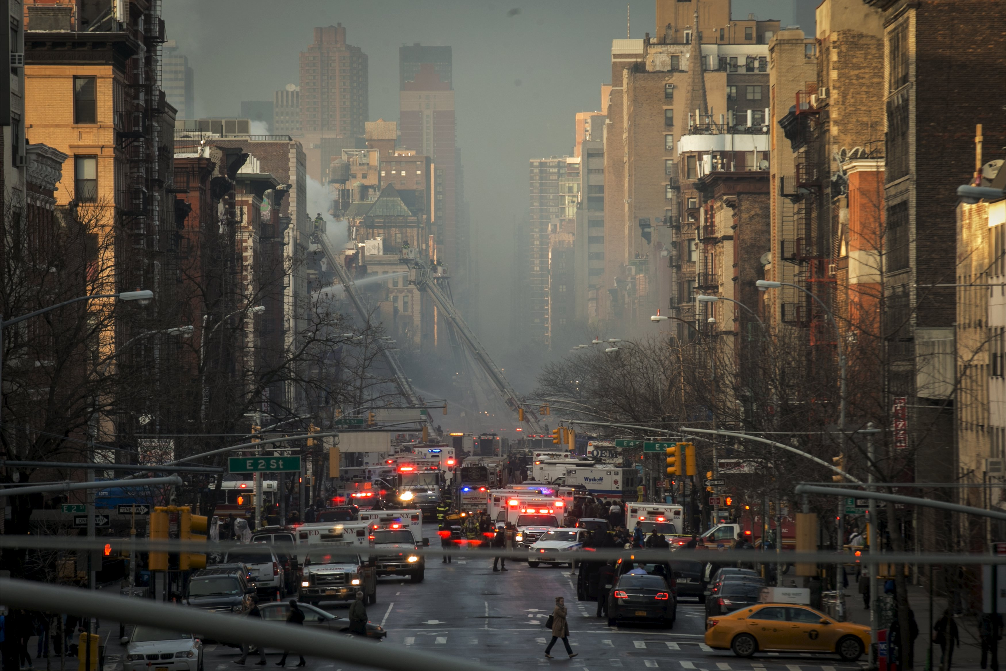 New York City buildings collapse in possible gas blast, injuring 12 people