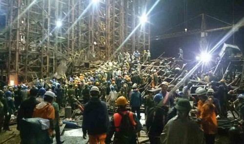 At least 16 killed in scaffolding collapse in Vietnam industrial park