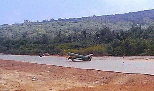 Vietnam military helicopter crashes because of strong gusts