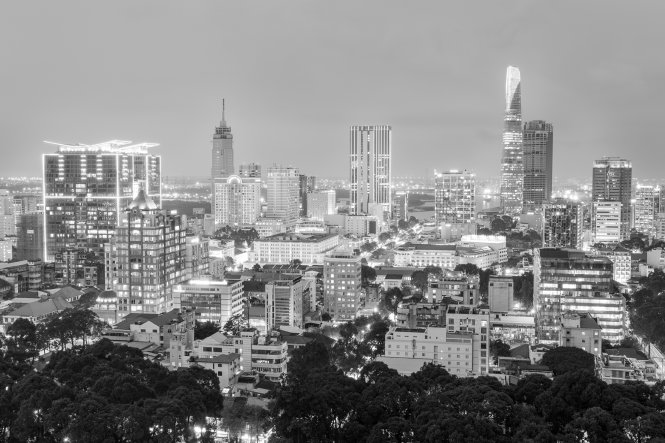Ho Chi Minh City looks gorgeous in one of Nguyen Thanh Tung's photos.