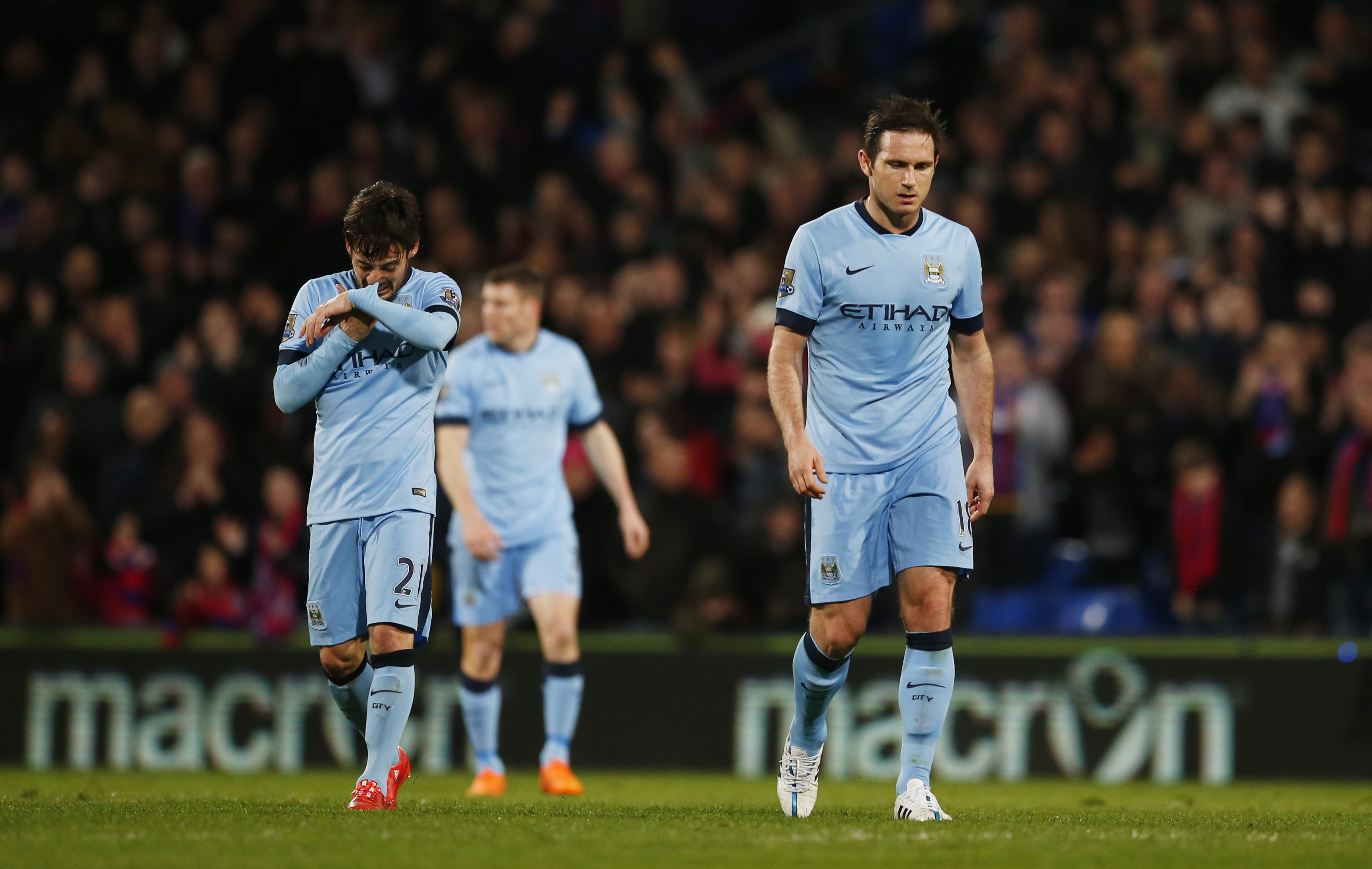 City's title hopes in tatters after defeat at Palace