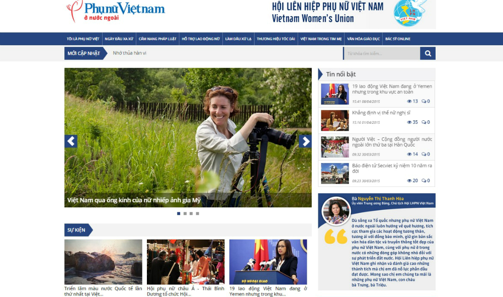 Official website for overseas Vietnamese women launched
