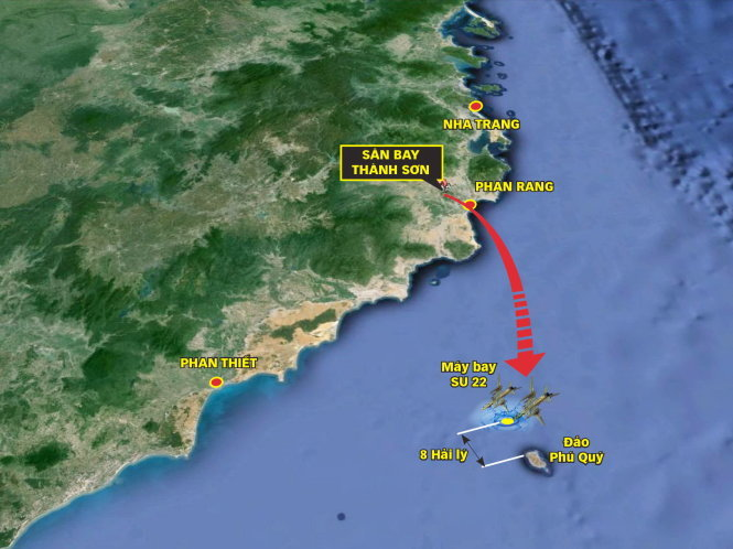 Search underway for two missing pilots whose warplanes disappeared off central Vietnam
