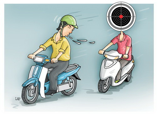 Beware! You may get spit in your face while driving in Vietnam
