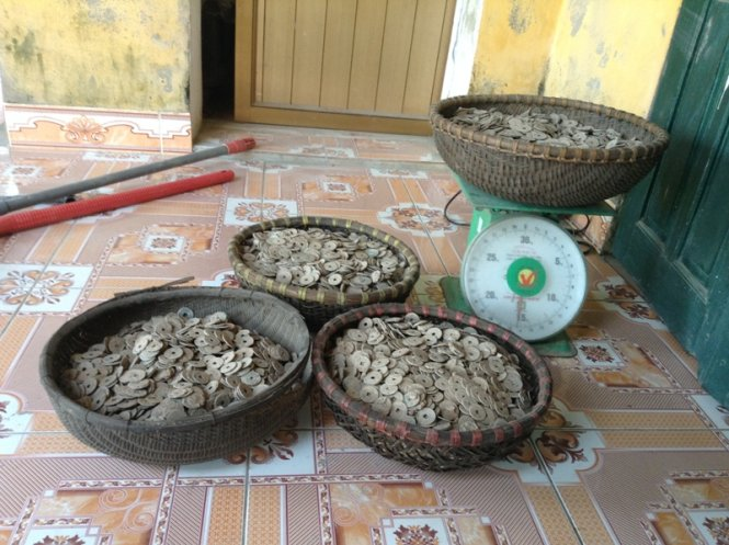 50kg of ancient coins uncovered in northern Vietnam
