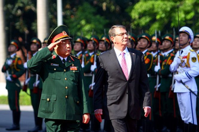 Pentagon chief pledges $18mn for Vietnam to buy US-made patrol vessels