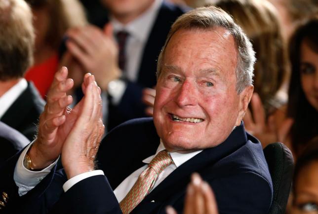 Former U.S. President George H.W. Bush breaks a neck bone in fall at home