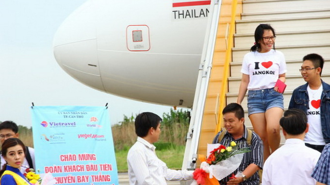 Largest airport in Vietnam's Mekong Delta launches first int'l service to Bangkok