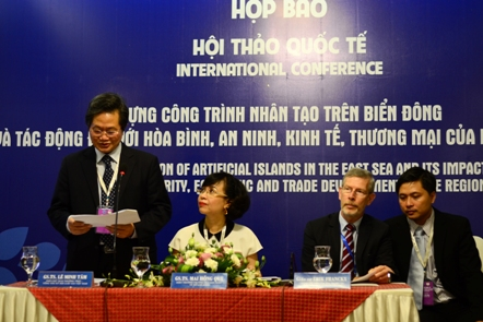 Vietnam to hold int'l conference on the construction of man-made islands in East Sea tomorrow