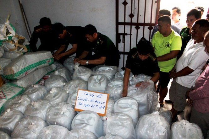 Vietnam, Laos seize 5.5 metric tons of drugs in largest-ever raid
