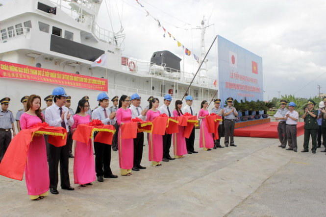 Vietnam receives first Japanese ship for fishery surveillance