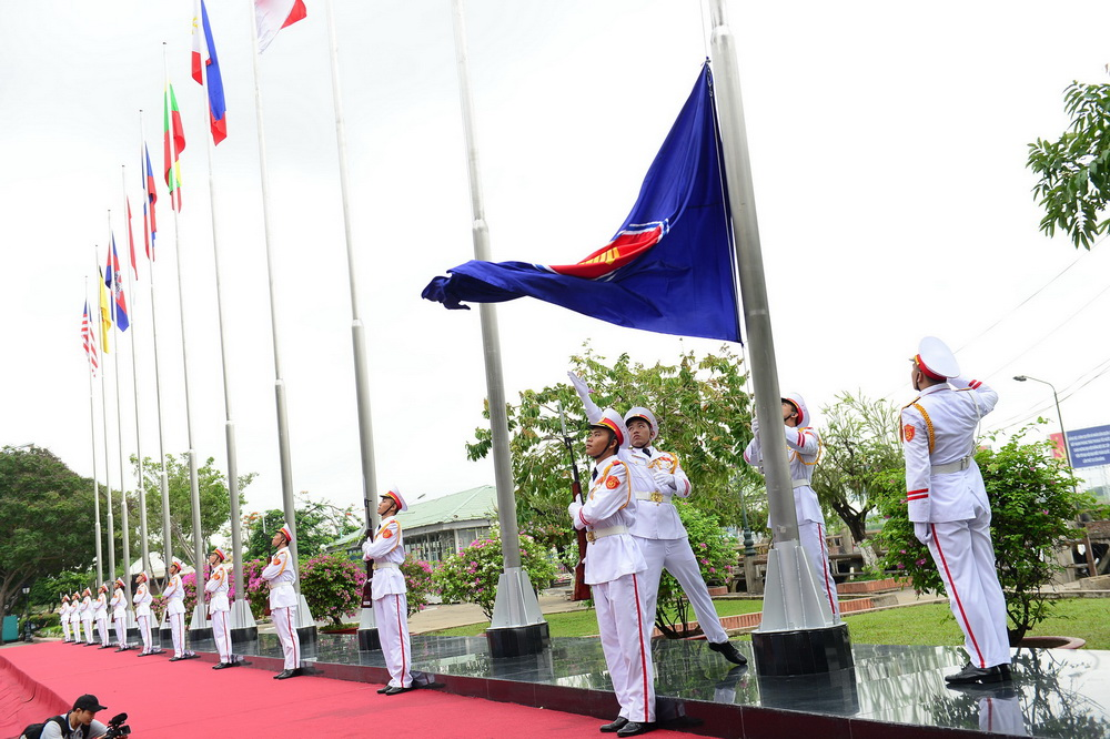 ASEAN flag hoisted in Ho Chi Minh City