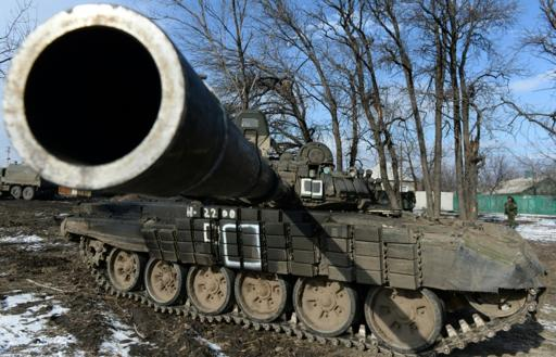 Ukraine reports heavy tank battle with pro-Russians