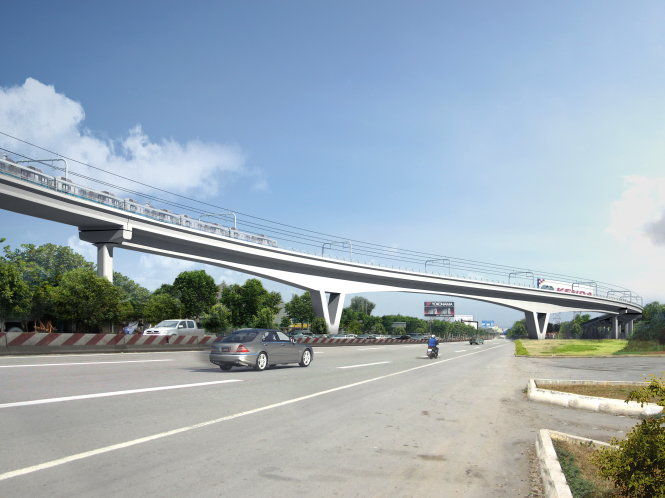 Work starts on flyover as part of Ho Chi Minh City's first metro line