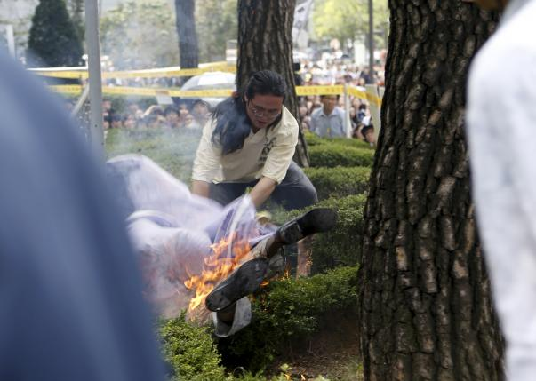 South Korean, 80, sets himself on fire in anti-Japan protest