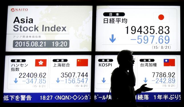 Asia stocks slump as China falls gather pace, yen rallies