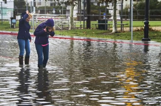 Streets in US southeast submerged after heavy rain