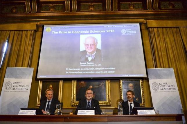 UK-born Angus Deaton wins economics Nobel Prize for work on consumption, poverty