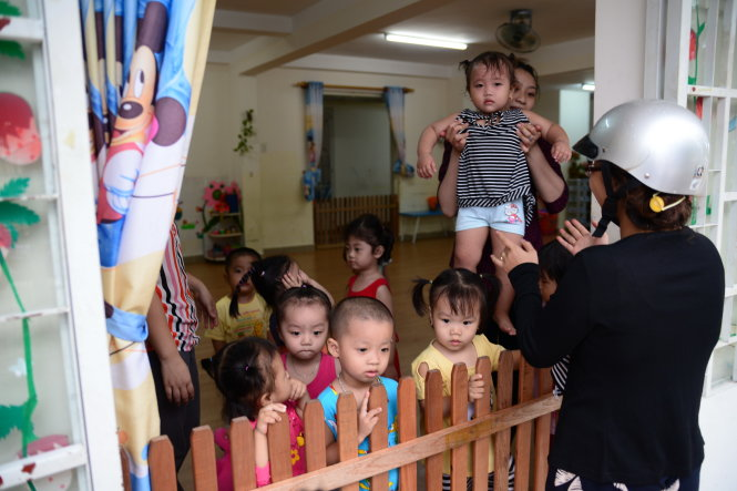 Vietnamese infants separated from working moms in overcrowded kindergartens
