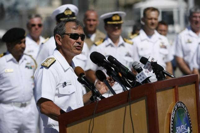 U.S. admiral, in China, says freedom of navigation operations no threat